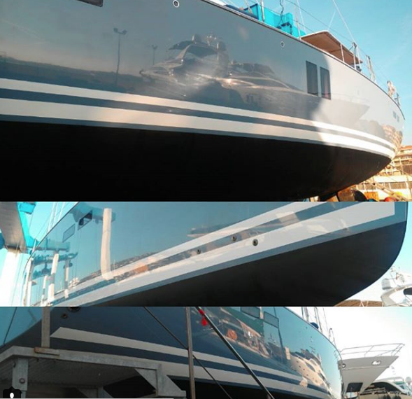 boat yacht polishing cote d'azur french riviera detailing cleaning wash