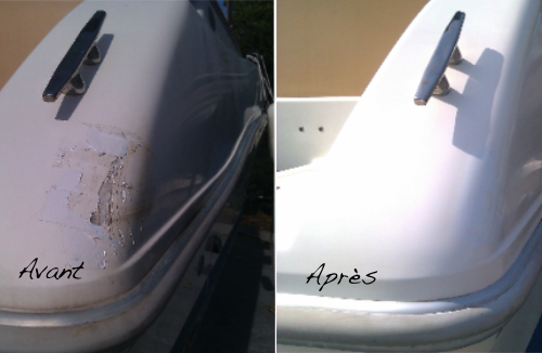 reparation gelcoat fibre de verre antibes cannes golfe juan french riviera