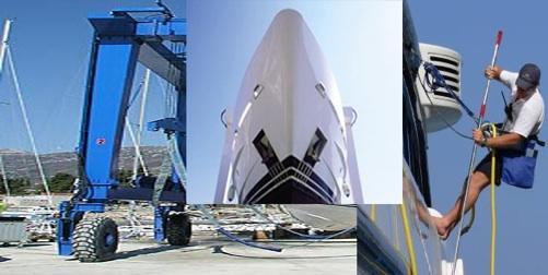 carenage antifouling chantier naval antibes cannes cote d'azur bateau yacht
