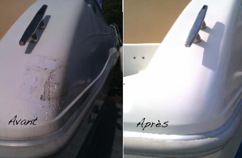 reparation de gelcoat entretien de bateau polish
